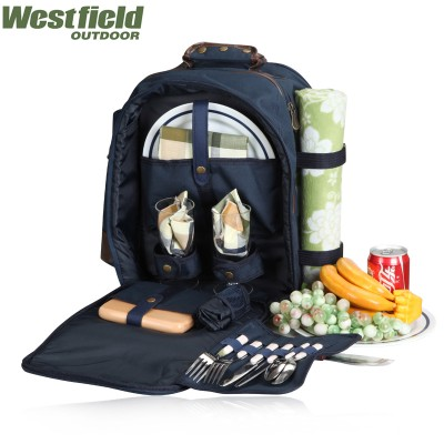 outdoor backpack picnic bag cooler bag six pack bag bolsa academia lunch bag 600D oxford cloth picnic basket 2 persons