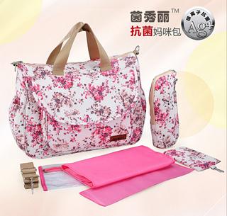 High Quality 5pcsset Multifunctional Bolsa Maternidade Baby Diaper Bag Maternity Lady Mummy Bag Messenger Diapering Bag