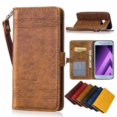 For Samsung Galaxy A5 2019 A5 2019 Case Retro embossed Leather&TPU Wallet Cover Coque Capinhas For Galaxy A5 A510 A510f A5100