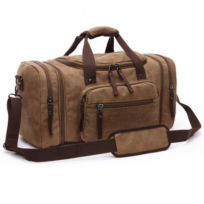 Vintage Canvas Men Travel Bags Women Weekend Carry on Luggage & Bags Leisure Duffle Bag Large Capacity Tote Business Bolso
