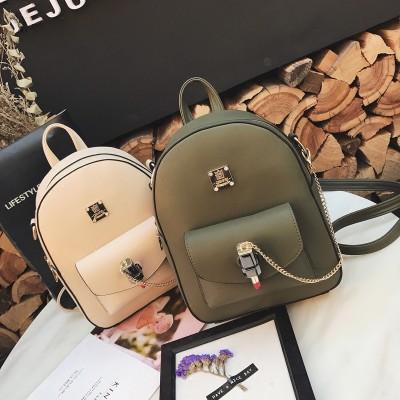 woman backpack girls mini backpack chains design woman lipstick lock backpack 2019 luxury brand girls schoolbgas